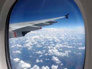 from my window seat