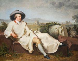 Goethe in Roman Campagna (1786) by J H W Tischbein