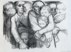 Käthe Kollwitz - Mütter, Krieg, 1919