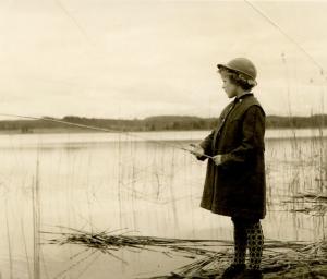 pretending to fish