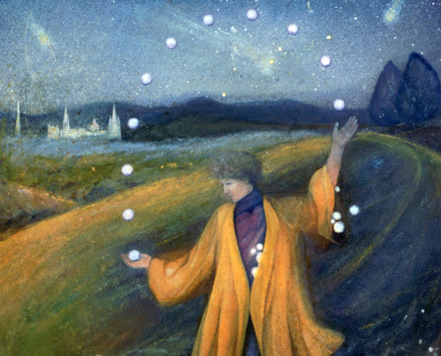 Segment of 'The Magician,' a painting by Silvia Pastore