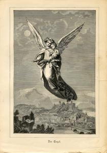 Angel - Der Engel - Woodcut for H C Andersen 1888 - smaller