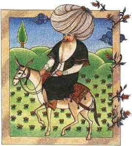 Nasreddin - 17th century miniature - Tokapi Palace Museum