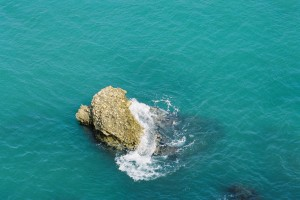 Nerja, rock in water